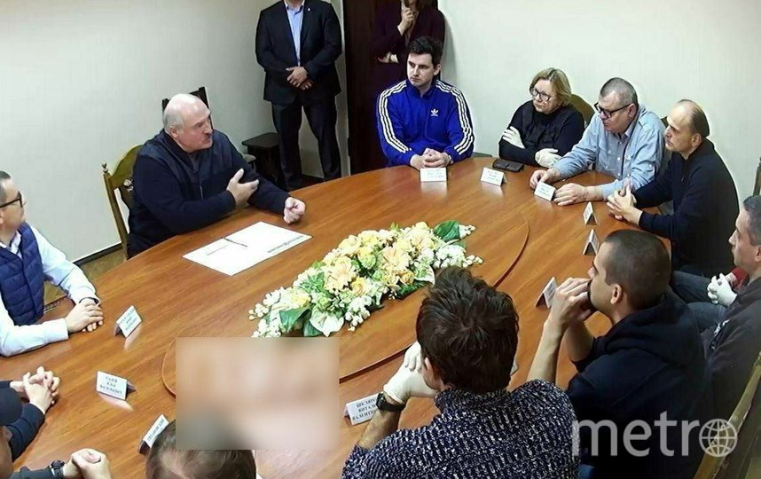 Встреча Лукашенко. Фото пул 1 канала Беларуси