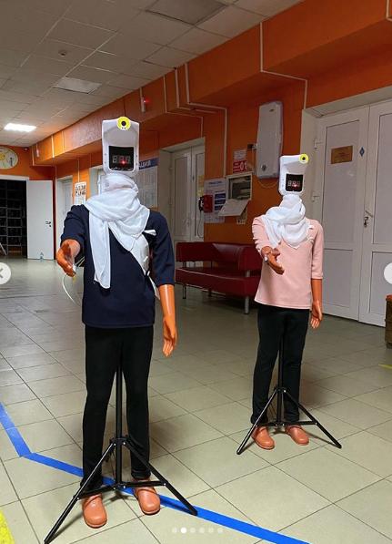 """Роботы-дезинфекторы. Фото Скриншот Instagram: @dgp18_rostov, """"Metro"""""""