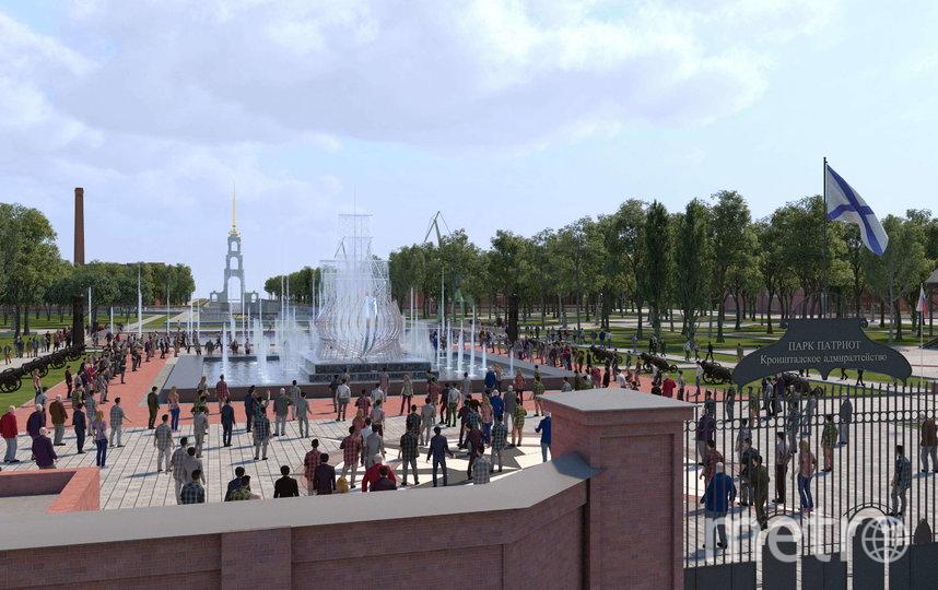 """Фонтан станет главной достопримечательностью парка. Фото проект предоставлен парком """"Патриот""""., """"Metro"""""""