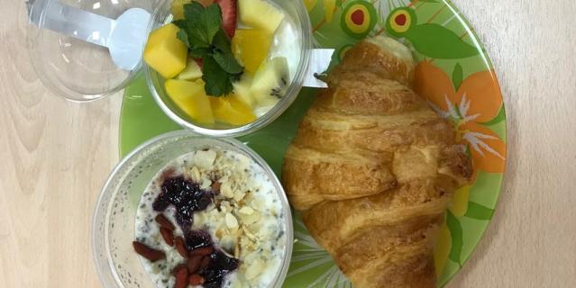 Реальность: Питательный завтрак.