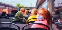 В общественном транспорте Петербурга без маски разрешается проезд 1 человеку, остальных ожидает штраф