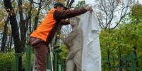 Скульптуры Летнего сада укрыли на зиму: фото