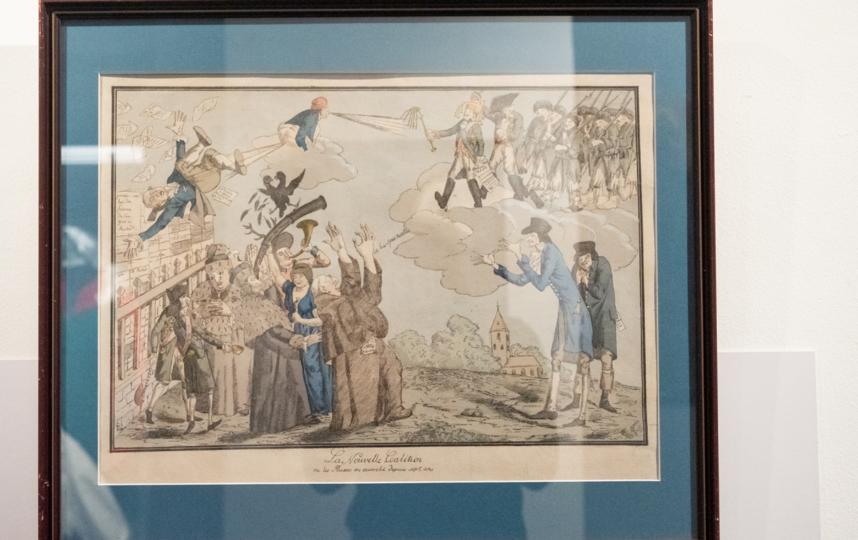 """Такие карикатуры стали популярны в Европе после Итальянской кампании Суворова. На них он изображён гротескно, но справедливо. Фото Святослав Акимов, """"Metro"""""""