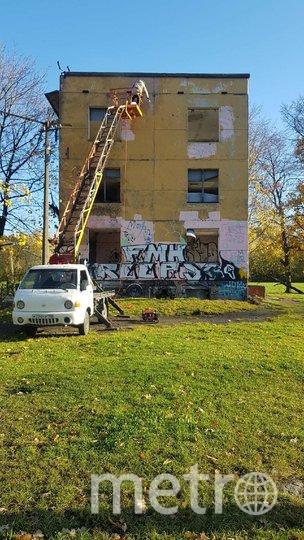 Художники хотели украсить заброшенное здание. Фото vk.com/yav_zone.