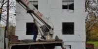 На петербургских художников написали заявление в полицию из-за рисунка с оленем на заброшенном здании