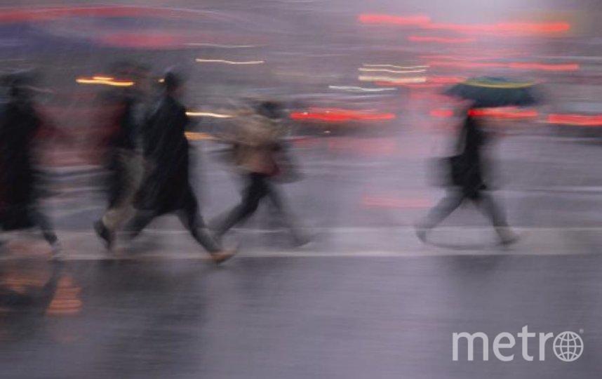 Теплый атмосферный фронт принесет сильный ветер и дожди. Фото Getty
