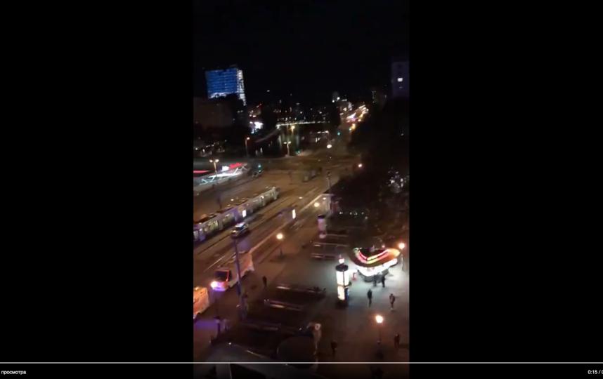 Нападение в Вене. Фото скрин-шот, Скриншот Youtube