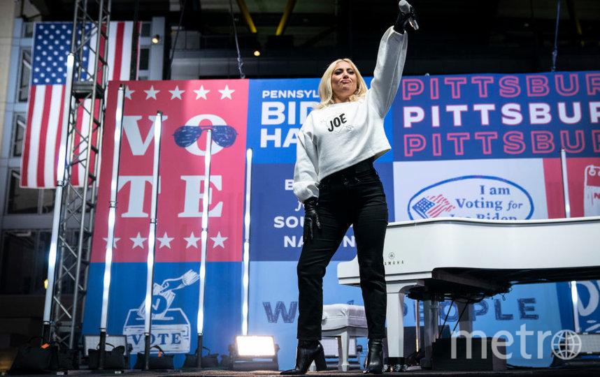 Одно из последних мероприятий избирательной кампании Джо Байдена. Гостья - Леди Гага. Фото Getty