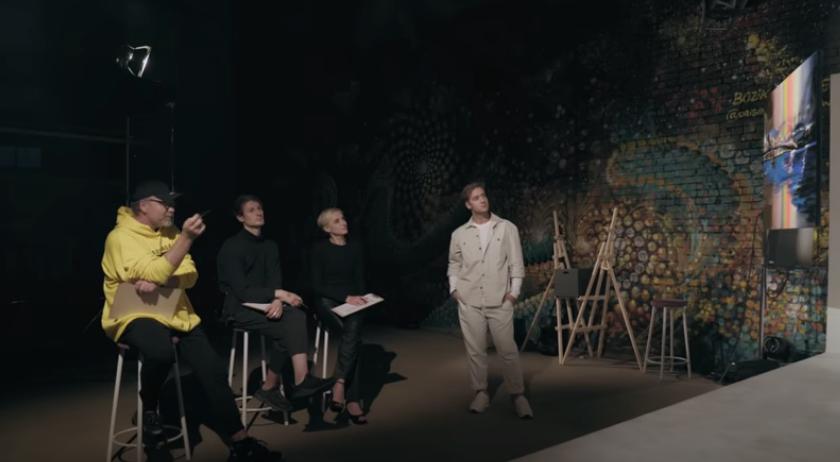 В финальной серии за победу боролись три художника: Константин Ужве, Лю Блю и Денис Куксов. Фото Скриншот Youtube