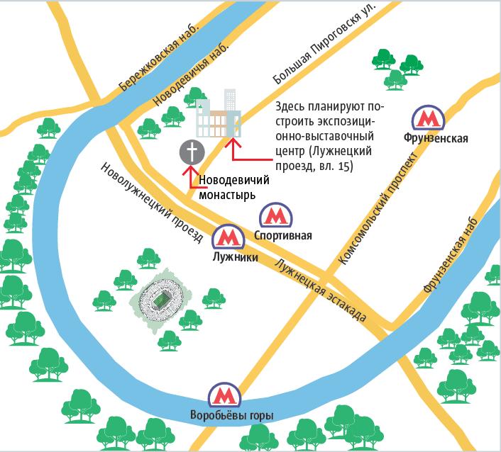 """В Лужнецком проезде новое здание появится не раньше 2023 года. Фото Инфографика: Андрей Казаков, """"Metro"""""""