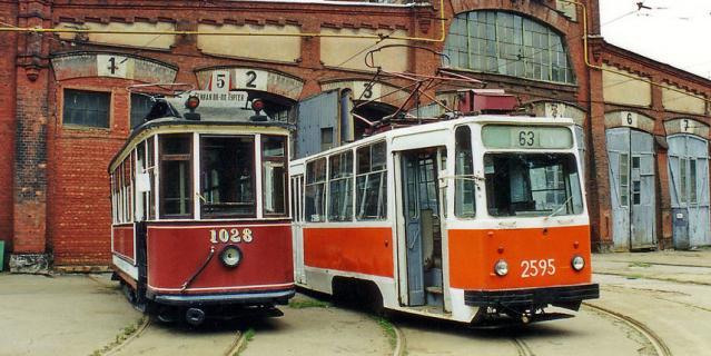 Василеостровский трамвайный парк № 2.
