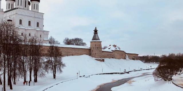 Это зимний Псков.
