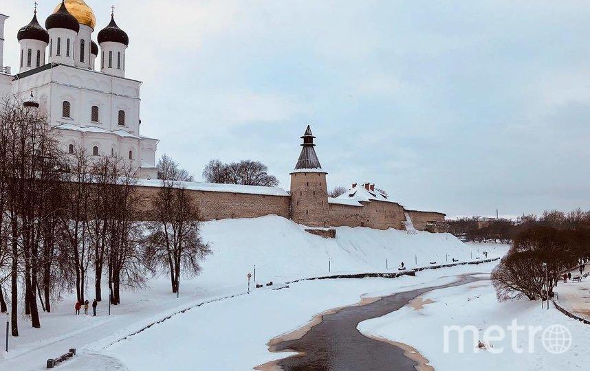 Это зимний Псков. Фото Instagram @ashashaeva