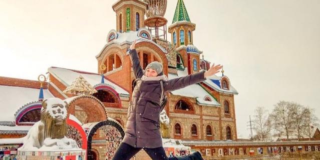 А так выглядит Новый год в Казани.