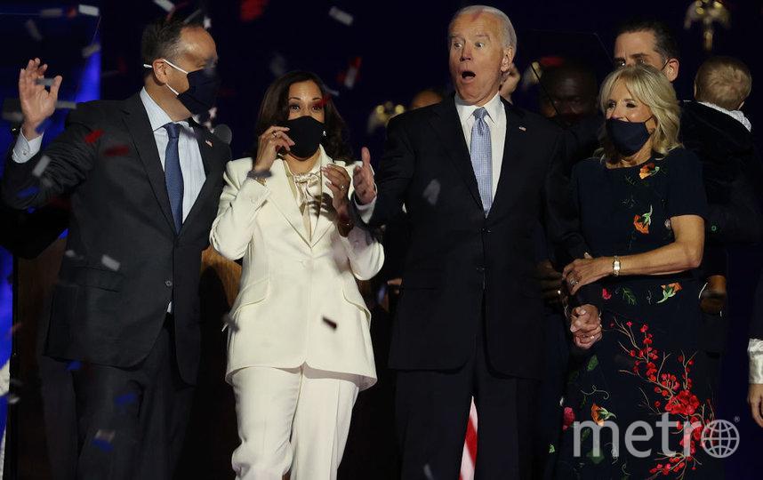 Камала с мужем и Байден с супругой. Фото Getty
