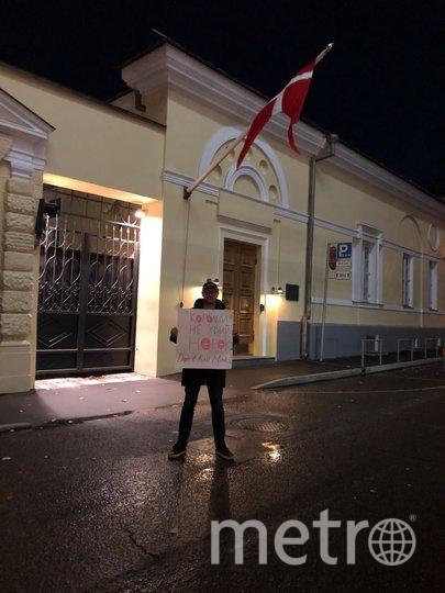Житель Москвы устроил пикет. Фото предоставлено автором