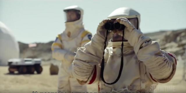 """Кадр из сериала """"Лунная база 8""""."""