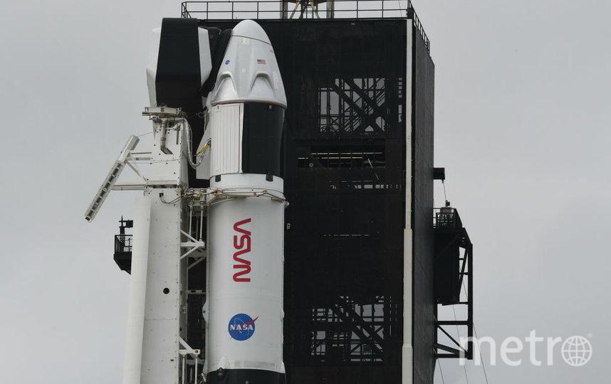 Американский пилотируемый космический корабль Crew Dragon с астронавтами стартовал к МКС с космодрома на мысе Канаверал во Флориде. Фото Getty