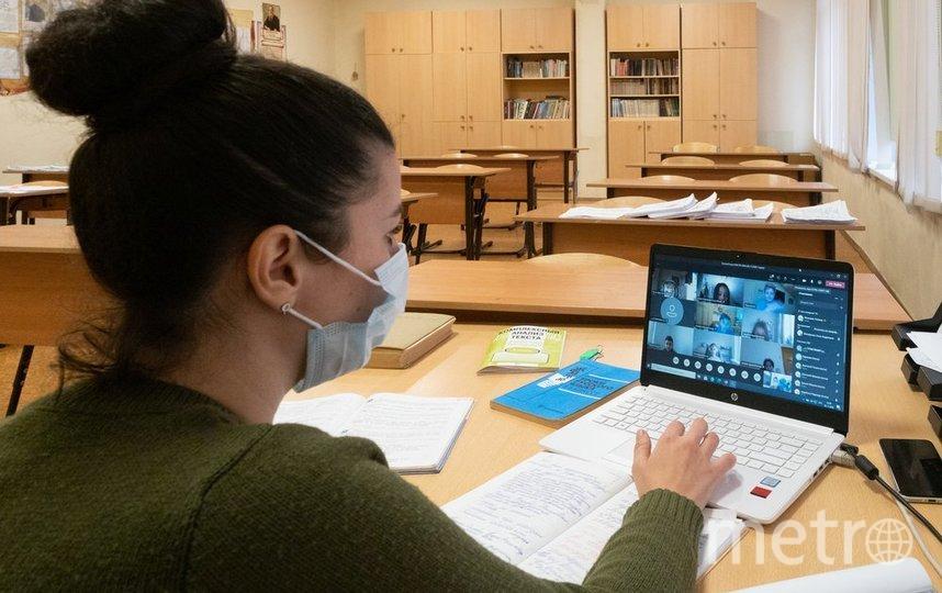 """Продление дистанционного обучения помогает в сдерживании пандемии коронавируса. Фото Гришкин Денис//агентство """"Москва"""""""