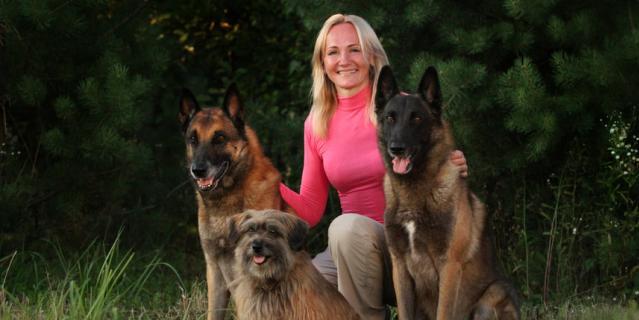 Полина и ее собаки.