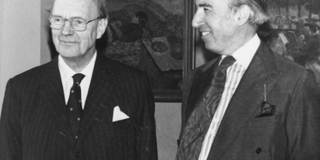 Мартин Чартерис слева. 1980 год.