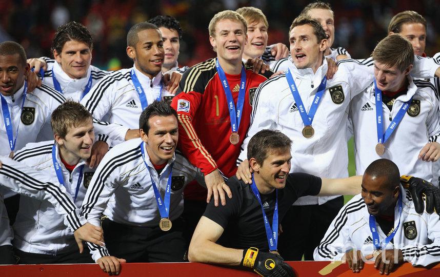 На чемпионате мира в ЮАР в 2010 году немцы заняли 3-е место. Фото Getty