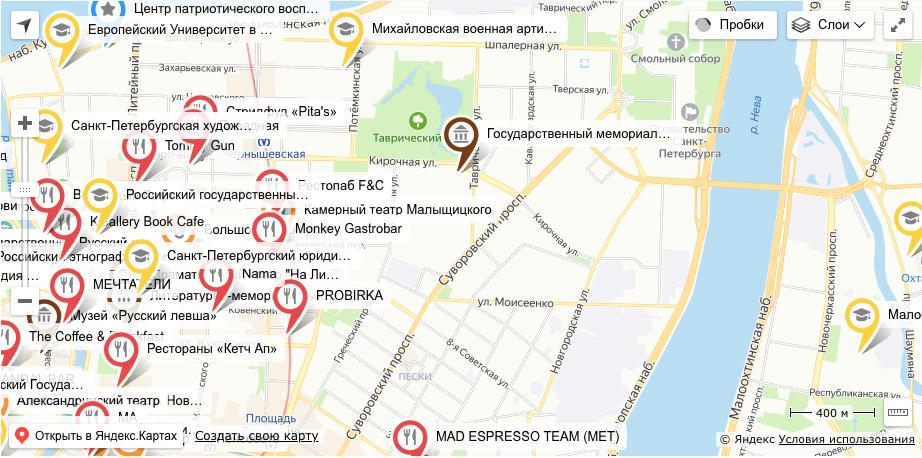 Интерактивная карта. Фото http://stuspb.ru/