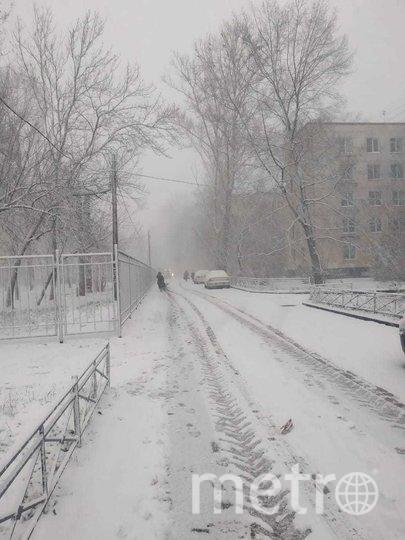В городе выпал снег. Фото Metro.