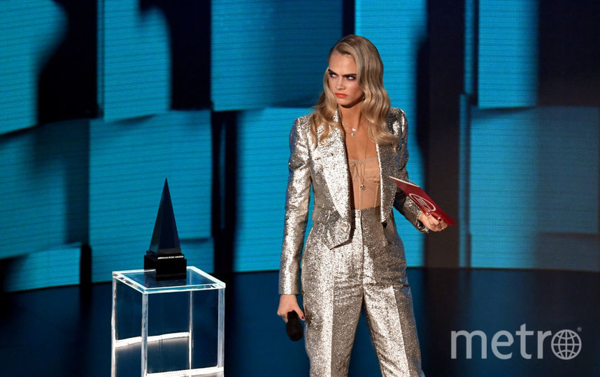 Звезды на American Music Awards. Кара Делевинь. Фото Getty