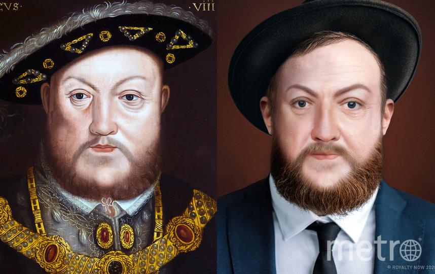 """А это Генрих VIII. Фото предоставлены автором проекта Royalty Now, """"Metro"""""""