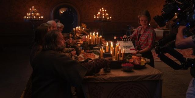 Царские пиры воссоздавались в фильме очень детально.
