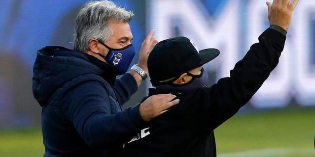 Диего Марадона (справа), 30 октября 2020 года.