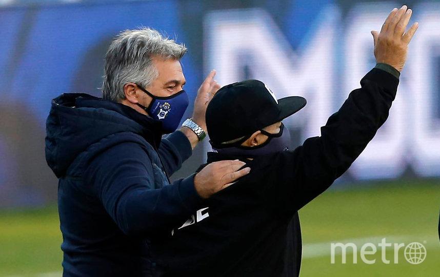 Диего Марадона (справа), 30 октября 2020 года. Фото Getty