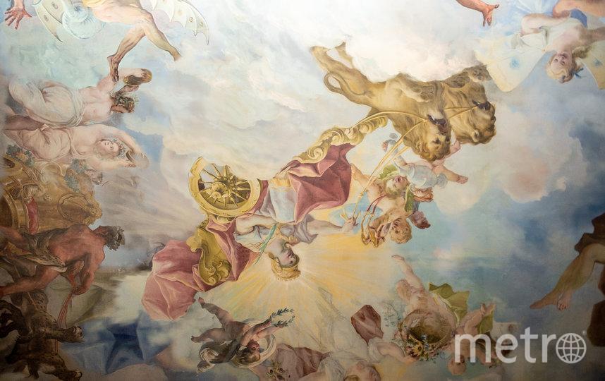"""Фрагмент фрески на потолке в главной зале. Фото Святослав Акимов, """"Metro"""""""