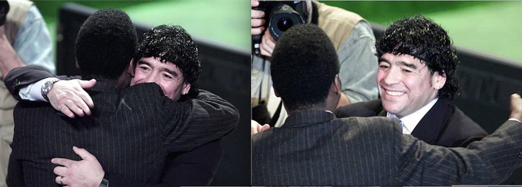 Пеле и Диего Марадона. Фото Getty