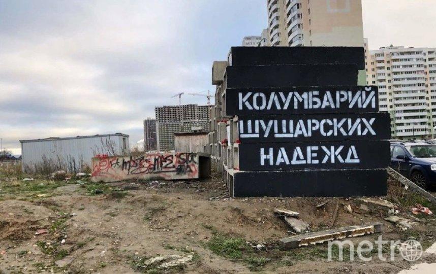 """Идею с """"шушарским колумбарием"""" местным активистам подсказал уличный художник Loketski. Фото  vk.com/shushum."""