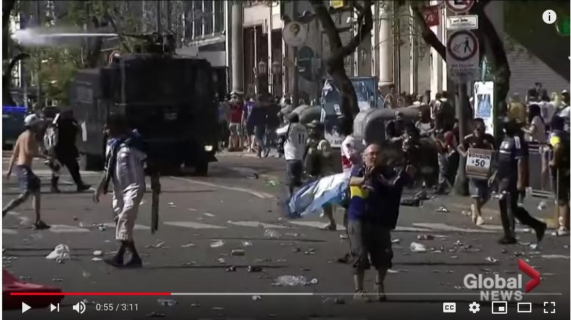Беспорядки в Буэнос-Айресе.