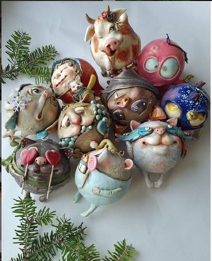 Вариант елочной игрушки. Фото instagram.com/kidsavenue.lt