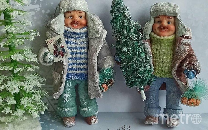 Вариант елочной игрушки. Фото instagram.com/annakalygina83