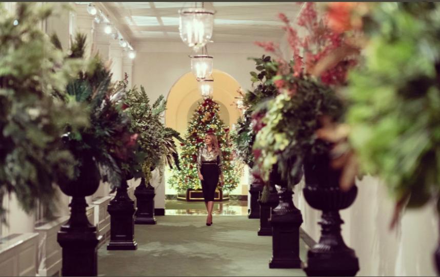 Праздничное убранство Белого дома. Фото https://twitter.com/FLOTUS