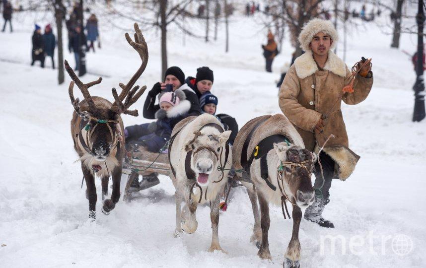 """Начать зимние гулянья. Фото агентство """"Москва"""""""