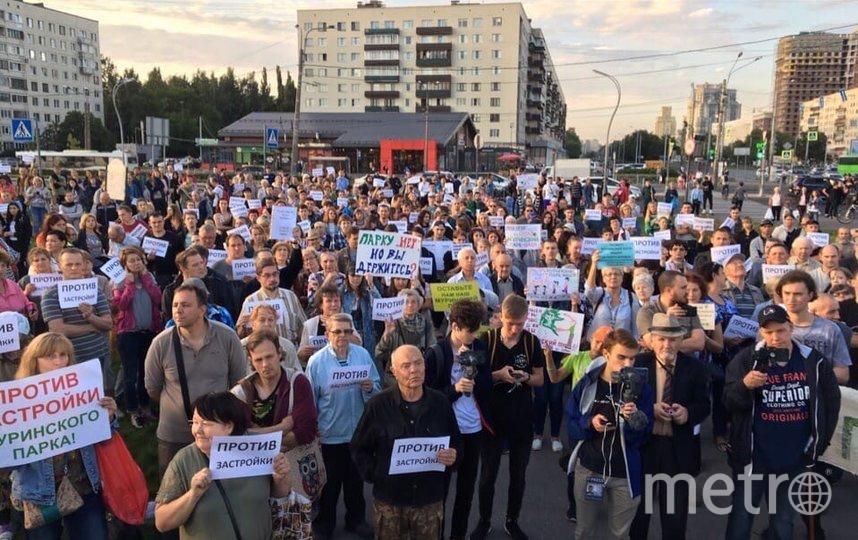 Активисты. Фото https://vk.com/kalininskiyzapark