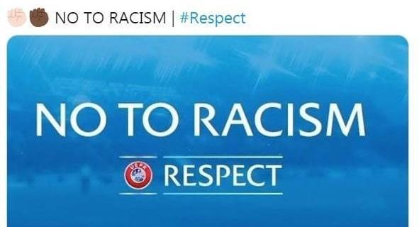 """Истанбул Башакшехир"" опубликовал в Twitter фразу ""Нет расизму""."