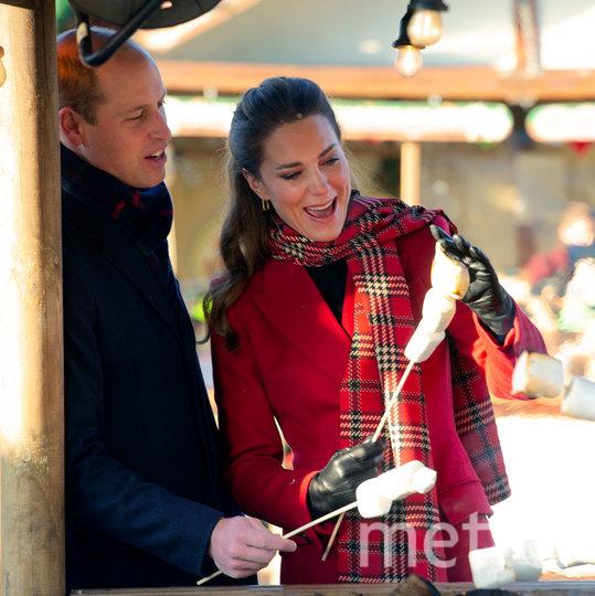 Фото из рождественского тура Кейт Миддлтон и принца Уильяма. Фото Getty