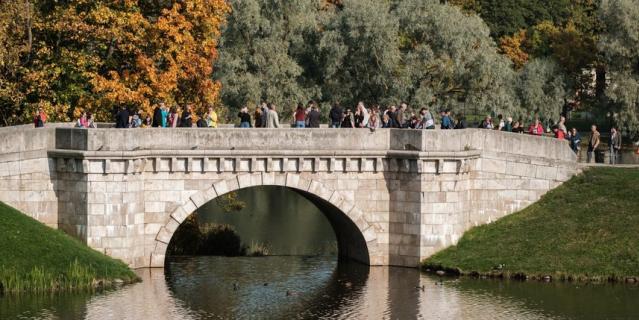 Большой каменный мост в Гатчине.
