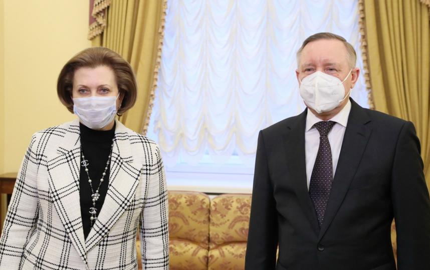 Беглов и Попова. Фото https://vk.com/a_beglov