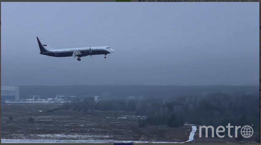 16 декабря 2020 года на аэродроме в Жуковском совершил первый полет новый пассажирский региональный турбовинтовой самолет Ил-114-300. Фото Скриншот Youtube