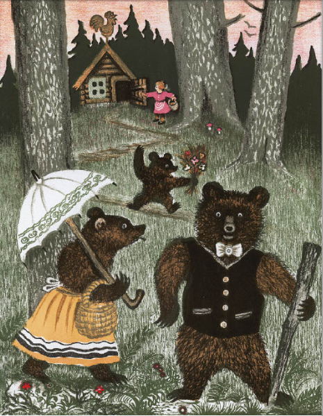 """Иллюстрации к календарю: апрель – """"Три медведя"""" (1938 г.). Фото предоставлено Марией Захаренко"""