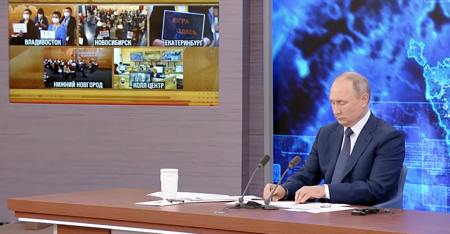 "Вопрос задал журналист Андрей Колесников. Фото Скриншот Youtube, ""Metro"""