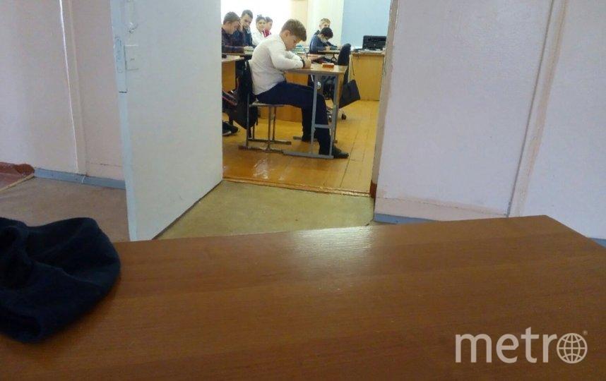 В Карелии школьника выставили из класса вместе с партой. Фото vk.com/ptzroditeli.